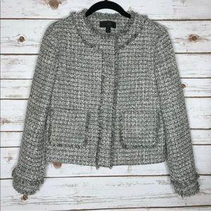 J Crew Lady Jacket in Metallic Tweed